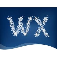 Snow letter vector