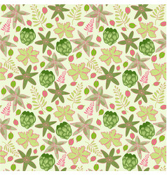 tiny tahitian floral repeat print pattern in vector image