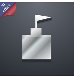 tower icon symbol 3D style Trendy modern design vector image vector image