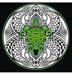 Turtle in a tribal style vector
