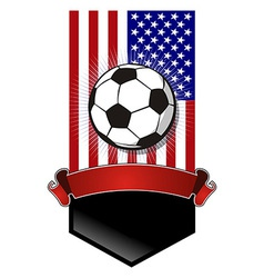 United States Soccer Championship banner vector image