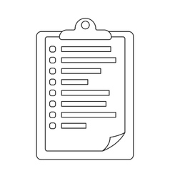 Veterinary pet health card icon in outline style vector
