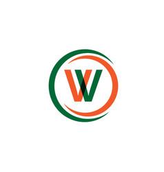 w company logo template design vector image