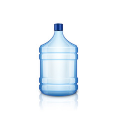 water empty bottle large plastic big blue vector image