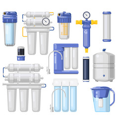 water filters purification and filtration systems vector image