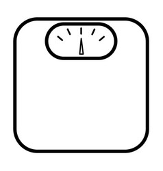 weighing scales line icon simple pictogram vector image