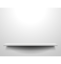 white shelve on wall vector image