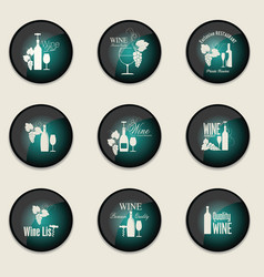 wine badge collection vector image