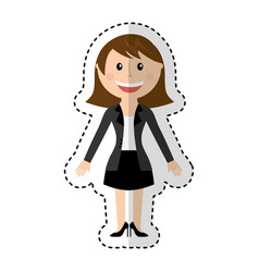 woman avatar character icon vector image