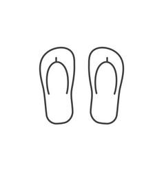 Beach step-ins icon vector