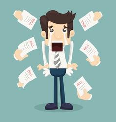 Businessman no money vector image