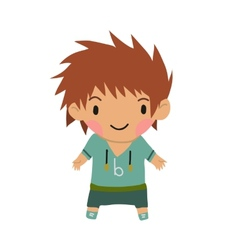 Casual little boy kids background vector image