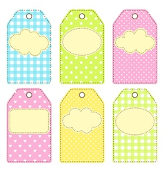 Patchwork tags vector
