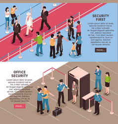 security horizontal banners set vector image