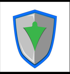 shield nature protection vector image