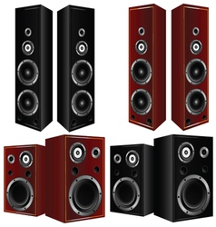 speaker in brown and black color art vector image