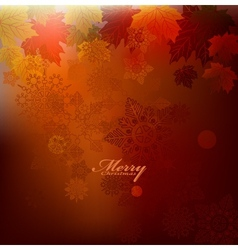 beauty christmas card background vector image vector image