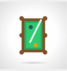 billiard entertainment flat color icon vector image