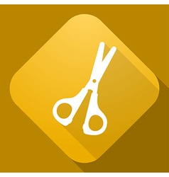 icon of Scissors with a long shadow vector image vector image