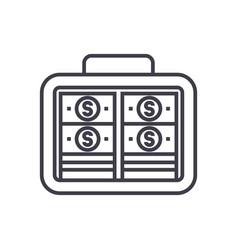 portfolio moneyinvestmentbanknotes line vector image vector image