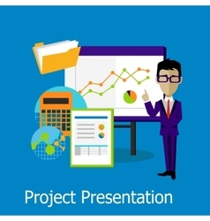 Project Presentation Concept Design Style vector image vector image