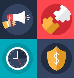 Set of Flat Design Business Icons Promotion vector image