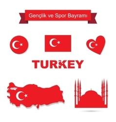 Turkey set vector image