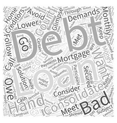 What Is Bad Credit Debt Consolidation Word Cloud vector image
