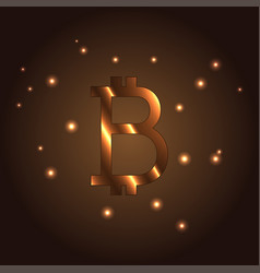 b letter logo icon element bitcoin vector image vector image