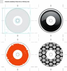 cd template and designs vector image vector image