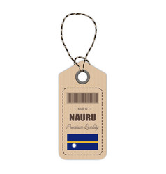 hang tag made in nauru with flag icon isolated on vector image vector image