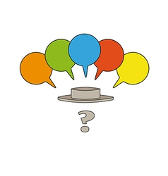 question mark and speak bubbles vector image vector image