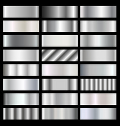 silver steel chrome gradients set vector image vector image