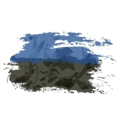 Estonian flag painted by brush hand paints art vector