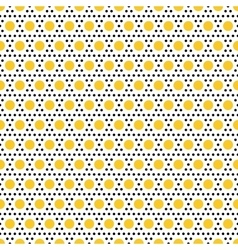 Gold and black dots seamless pattern vector image