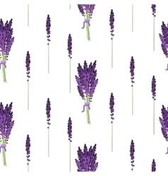 Lavender seamless pattern Provence violet bouquet vector image