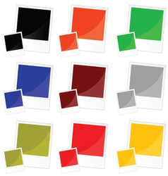 photo frame in color vector image vector image