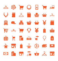 49 store icons vector image