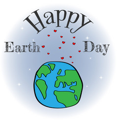 a happy earth day banner for vector image