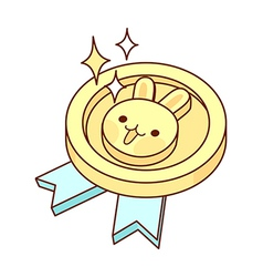 A medal is placed vector