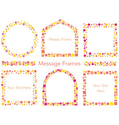 A set of mosaic and dot frame vector