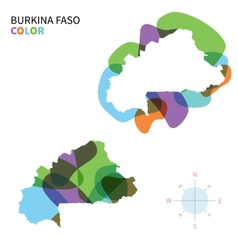 Abstract color map of Burkina Faso vector image