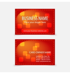 Abstract modern glossy red business cards vector