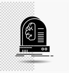 ai brain future intelligence machine glyph icon vector image