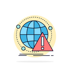 Alert antivirus attack computer virus flat color vector