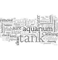 Aquarium care vector