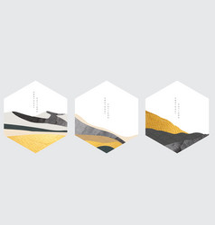 art landscape background with gold and black vector image