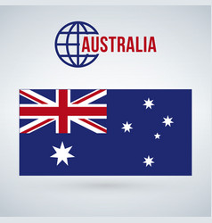 Australia flag isolated on modern background with vector