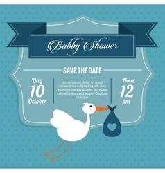 Baby Shower design stork icon graphic vector