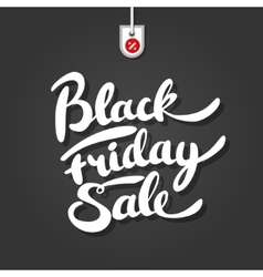 Black friday brush lettering on background with vector image